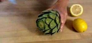 Prepare an artichoke to cook it