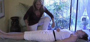 Stretch the hips with massage therapy