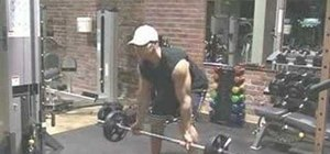 Do the bent over reverse grip barbell rows exercise