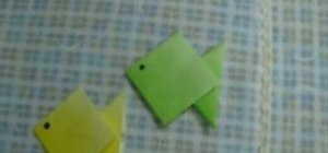 Make an origami paper fish