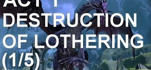 Play through the Prologue quest 'Destruction of Lothering' in Dragon Age 2