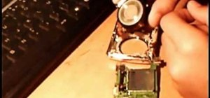 Repair and clean a Nikon Coolpix S200 with a blocked lens
