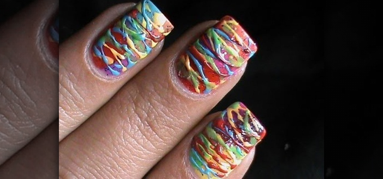 Do Colorful Spun Sugar Nails!