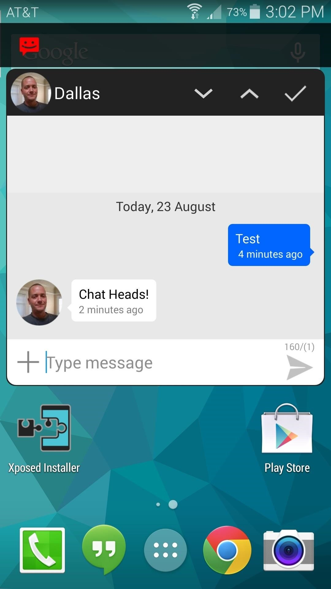 how to change text message bubbles on galaxy s8