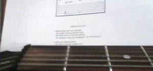 Read guitar tabs