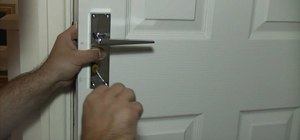 Fit door handles to a door properly