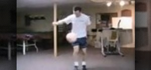 Juggle a soccer ball and do tricks and moves
