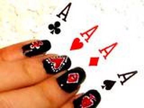 "Get Lady Gaga ""Poker Face"" inspired nails"