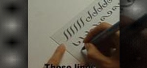 Script basic calligraphy letters