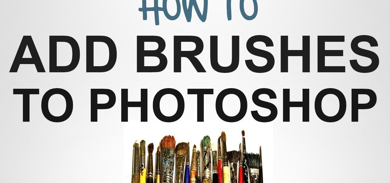 Add New Brushes to Photoshop
