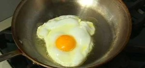 Set a fried egg (get rid of the slimy coating)