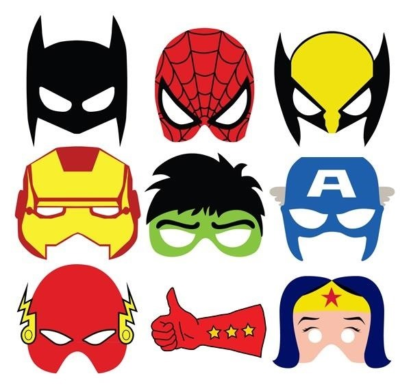 Wolverine Iron Man Hulk Captain America Flash Or Wonder Woman Theres Also Some Comic Style Sound Effects To Go Along With These Masks