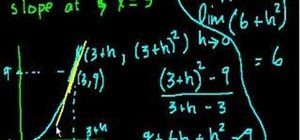 Use derivatives to find slope in calculus