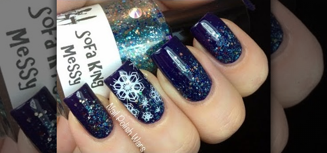 Do Easy Snowflake Nails !