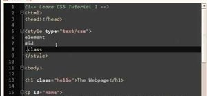 Start programming your first pages in CSS