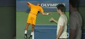 Lead with the hip in tennis serve