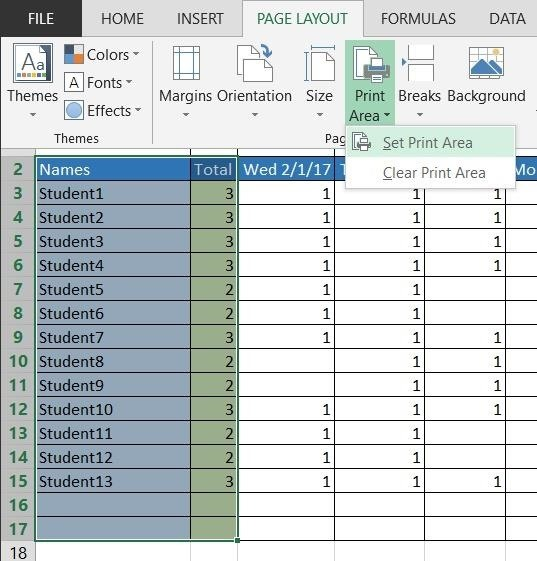 create pdf of selected excel sheet