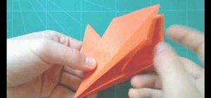 Make an origami pterodactyl for intermediate origami students