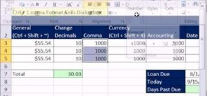Format your numbers correctly when working on a spreadsheet in Microsoft Excel