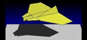 "Origami the ""Barracuda"" paper airplane"