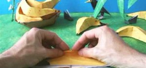 Fold realistic origami bananas step by step