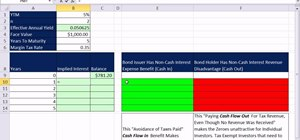 Build a early zero coupon bond amortization table in Excel