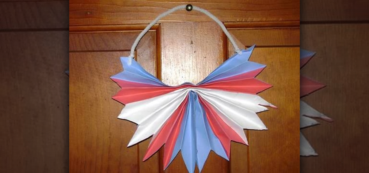 Make a Patriotic Paper Hanger for the 4th of July