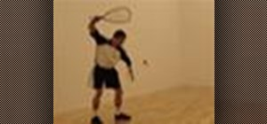 Hit the forehand in racquetball