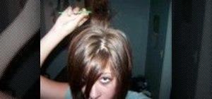 Tease and backcomb your hair