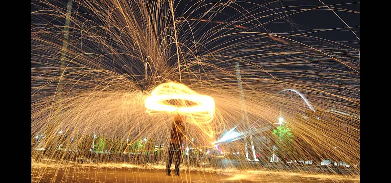 Steel wool fire photography - Night shots