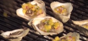 Grill Oysters on the Half Shell with a Mango Salsa