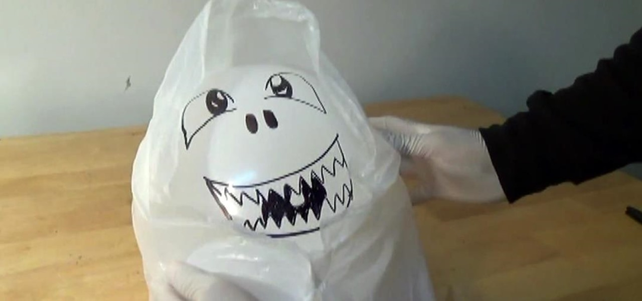 Make a Balloon Ghost for Halloween