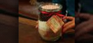 Make cake in a jar as a Christmas gift