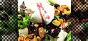 Make delicious pomegranate salad with pistachios