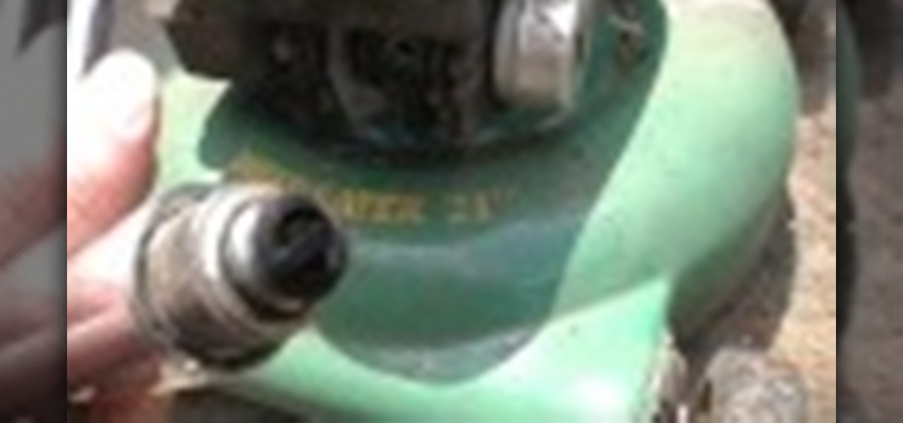 Clean Remove Carbon on Old Spark Plug Fix Surging Sputtering Lawn Mower