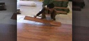 Install pergo floor