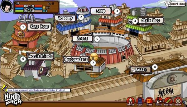 Ninja Saga Tutorial: User Interface Maps