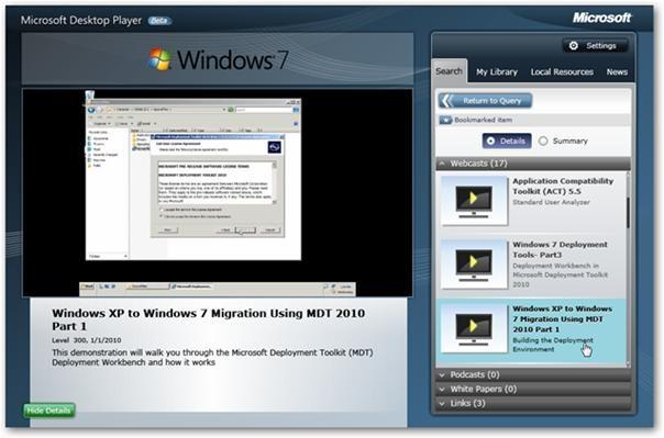 Easily Access MS Tutorials: Microsoft's Desktop Player