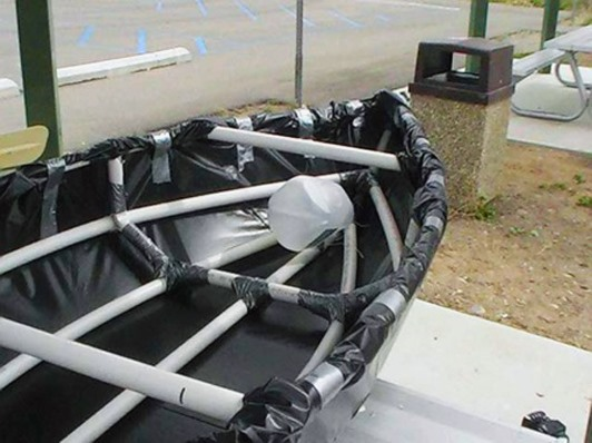 MacGyver Would Be Proud: DIY Canoe from PVC Pipe, Duct Tape and Plastic