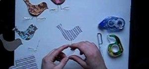 Make little paper birds