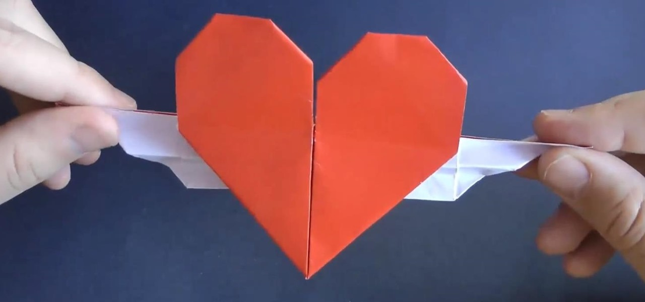 Fold an Origami Heart with Wings