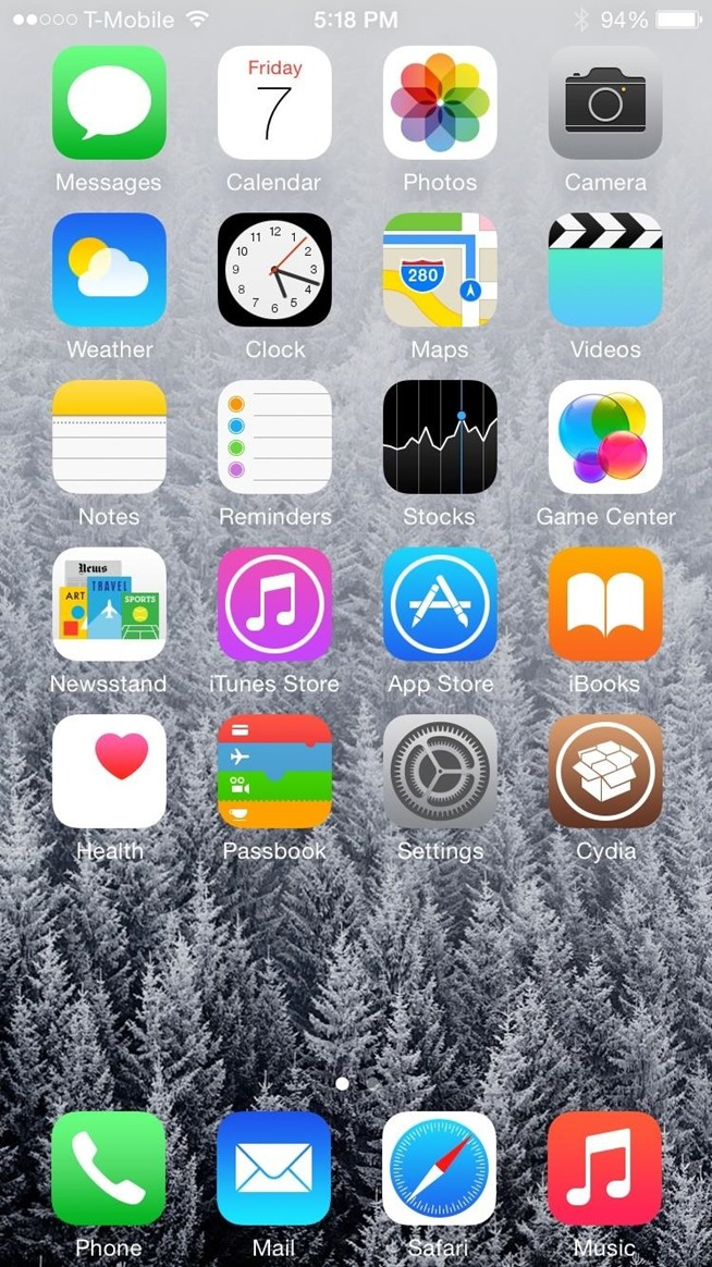 Make Your iPhone's Dock Transparent in iOS 8