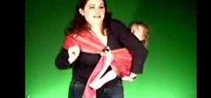 Carry a toddler in wrap sling on your back