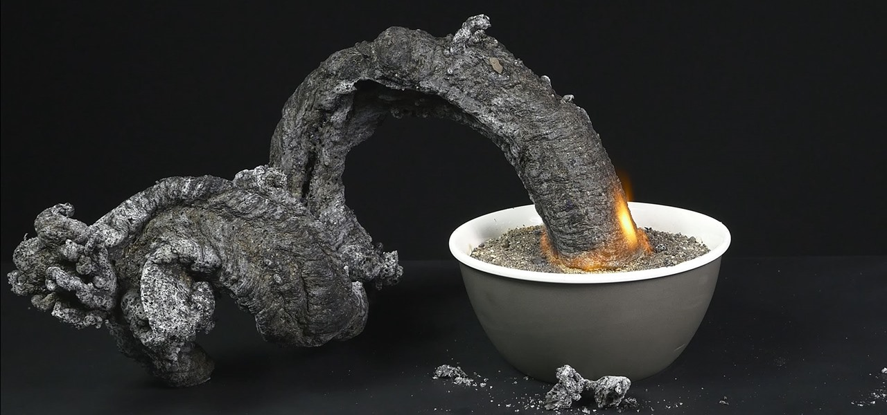 Make a Fire Snake from Sugar & Baking Soda
