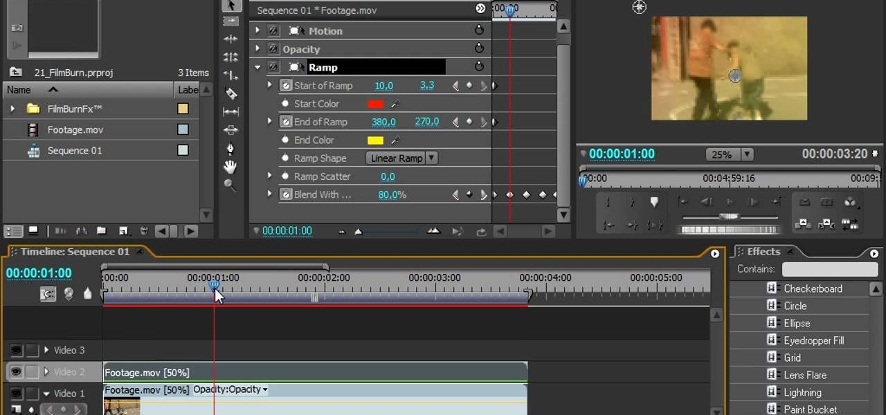 How to create a film burn effect using premiere pro adobe premiere how to create a film burn effect using premiere pro adobe premiere wonderhowto ccuart Choice Image
