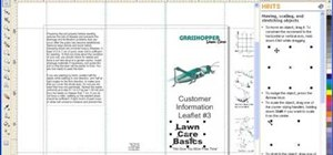 Create a brochure in CorelDRAW Graphics Suite X4