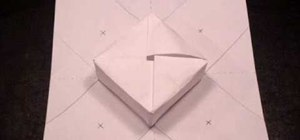 Make a paper origami gift box