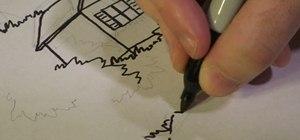 Draw a tree house