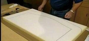 Finish upholstering a headboard