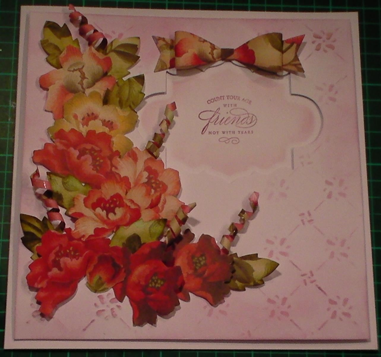 How to Make Anna Griffin Paper Decoupage Red Floral Card